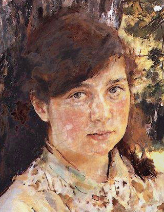 Девушка, освещенная солнцем. Портрет М. Я. Симонович, Серов, 1888