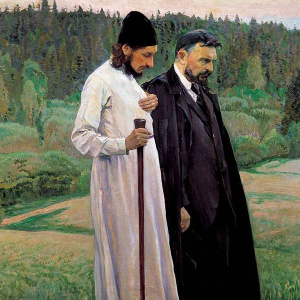 «На горах», Михаил Васильевич Нестеров — описание картины