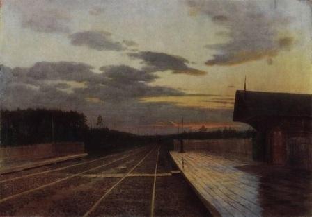 «Вечер после дождя», Левитан — описание картины