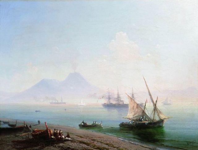 Вид Тифлиса от Сейд-Абаза, Айвазовский - описание картины