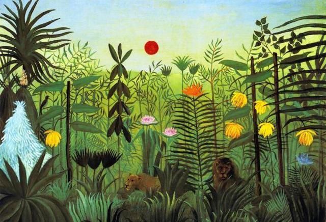 Весенний пейзаж, Анри Руссо