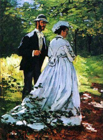 Базиль и Камилла, Клод Моне, 1865