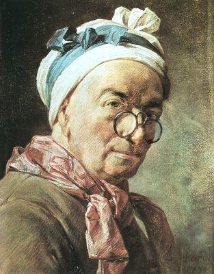 «Автопортрет в пенсне», Жан Батист Симеон Шарден — описание картины