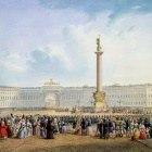 Картина Арка Главного штаба (Санкт-Петербург), В. С. Садовников, 1830