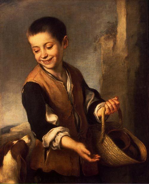 Мальчик с собакой, Бартоломе Эстебан Мурильо