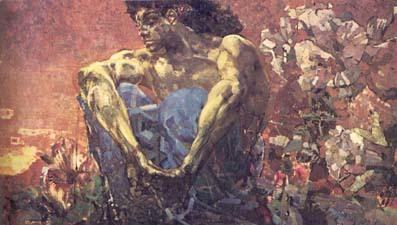 Портрет поэта Валерия Яковлевича Брюсова, Врубель, 1906