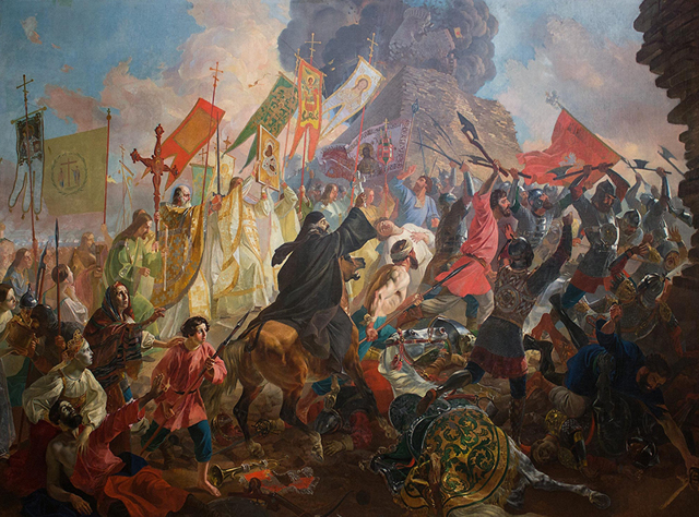 Осада Пскова польским королем Стефаном Баторием, Брюллов