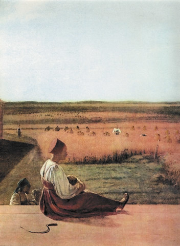 «На пашне. Весна», Венецианов — описание картины