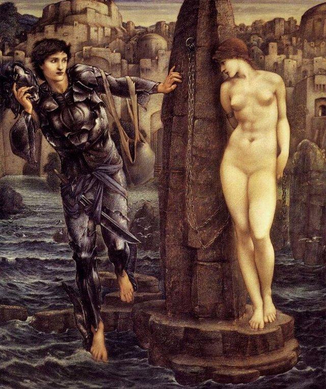 Персей и Андромеда, Джорджо Вазари - описание картины