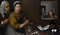 Христос в доме Марфы и Марии, Диего Веласкес — описание картины