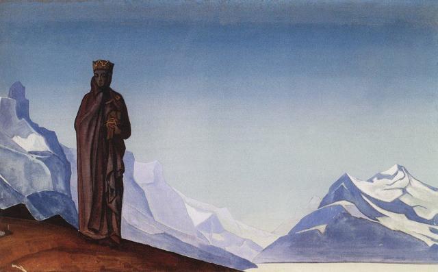 «Небесный бой», Николай Константинович Рерих — описание картины