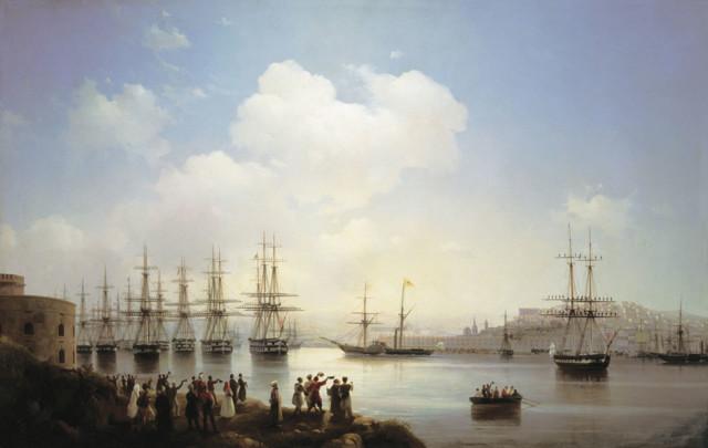 Корабль среди бурного моря, Айвазовский, 1887